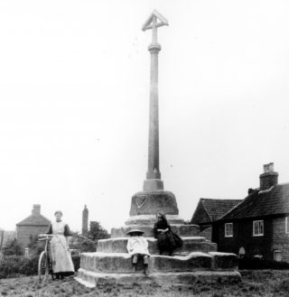 Muston Cross, Woolsthorpe Lane. | Bottesford Local History Archive