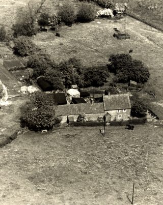 An aerial view of Sykes Lane Farm, Muston. | Bottesford Local History Archive