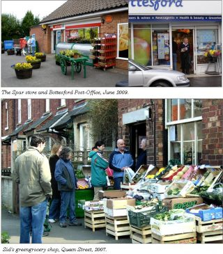 Local shopping in the village. | Bottesford Local History Archive