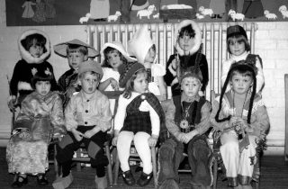 At the Playgroup Christmas Party, 1981. | Bottesford Local History Archive