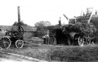 Steam threshing before the First World War, Ernest Marsh & Co. | Bottesford Local History Archive