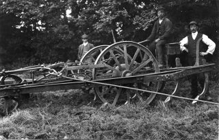 Steam harrowing before the First World War, Ernest Marsh & Co. | Bottesford Local History Archive
