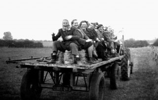 Homeward bound after a hard day's work, 1954. | Bottesford Local History Archive