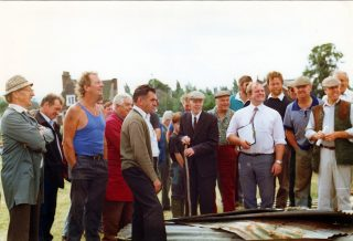 The end of a tradition, the farm sale at Beckingthorpe Farm, 1980s. | Bottesford Local History Archive