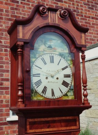 A grandfather clock built by James Lewty in Bottesford. | Bottesford Local History Archive
