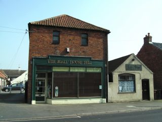 The old malthouse on Queen Street.   Bottesford Local History Archive