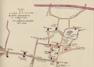 "1848 map of Bottesford, from ""The Northeast Corner"". 