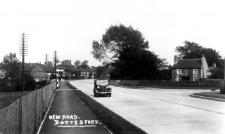 The new Grantham Road,c.1936. | Bottesford Local History Archive