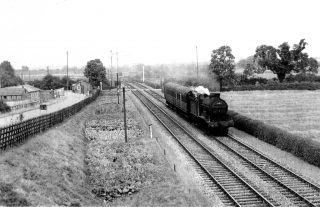 The Joint Railway crossing at Orston Lane, Bottesford, c.1950.                                  | Bottesford Local History Archive