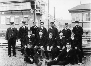 Bottesford East station staff, c.1910. | Bottesford Local History Archive