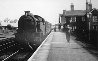 A passenger steam train calling at Bottesford. | Bottesford Local History Archive