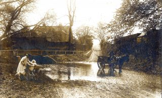 An Edwardian view of the ford on the River Devon at Rectory Lane, Bottesford. | Bottesford Local History Archive