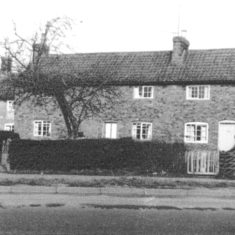 The eastern row of Bunker Hill cottages before demolition. From the collection of Jill Bagnall.