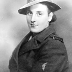 Portrait of Mrs Edna Taylor as a Land Army girl in Bottesford c.1940 From the collection of the late Mrs. Edna Taylor