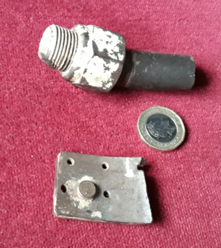 Shrapnel removed from Trooper Harry Daybell | From the collection of Harry Daybell