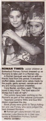 'Roman Times', a cutting from the Grantham Journal, 1996