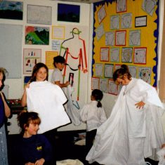 Roman Time at Bottesford Primary School, six pictures