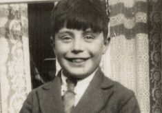Dennis Kirk, as a boy with his favourite dog