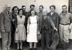 Farm workers at Merrivale Farm, Plungar