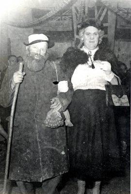 In fancy dress; Tom Minckley and Harry Gascoigne