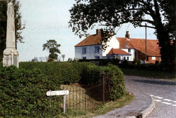 Poplar Farm and the War Memorial, Plungar