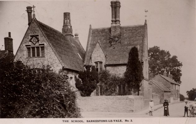 Barkestone village school on New Causeway, with Shipman's house in the background