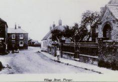 Plungar street and chapel
