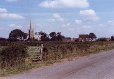 A view of Barkestone church and Manor House farm