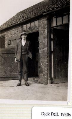 Dick Pell at Grange Farm, Plungar, 1930s