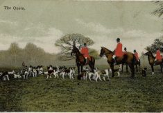 The Quorn Hunt, an old postcard