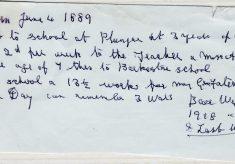 Tom Kirk's memories of time in Plungar