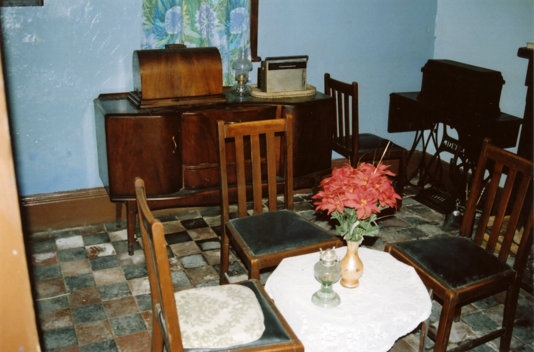 The dining room in the Lock House