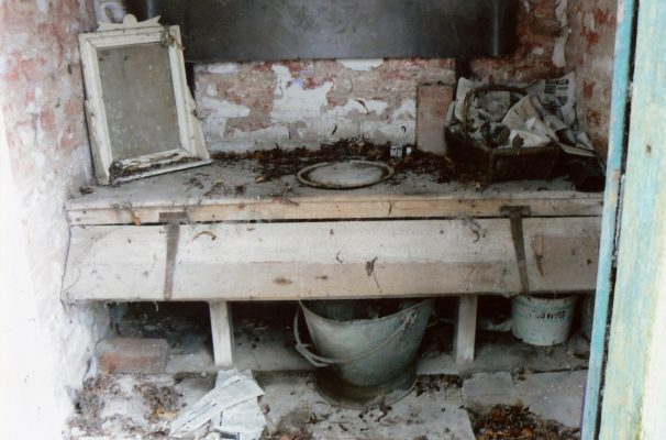 The old-fashioned toilet at the Lock House.
