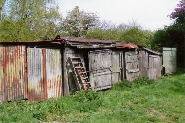 One of the rows of improvised sheds at the Lock House.   Margaret Langton