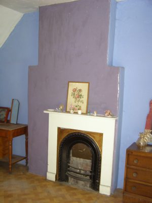 Fire place in the bedroom above the dining room.   Neil Fortey