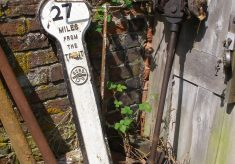 An old canal distance marker