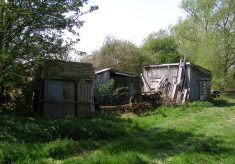 Some of the old sheds at the Lock House
