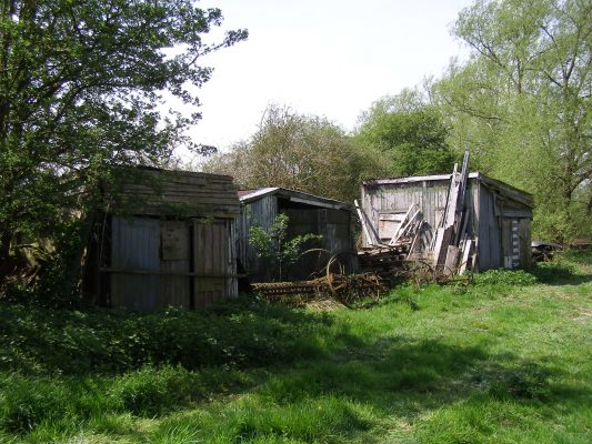 Some of the old sheds at the Lock House | Neil Fortey
