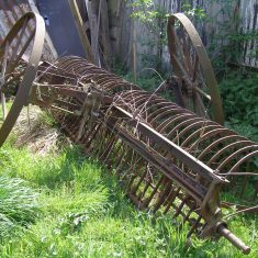 A tractor-draw rake. BOT196/103   Neil Fortey