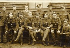 Leicestershire Regiment soldiers at camp
