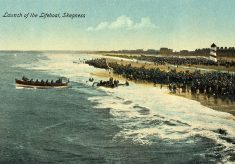 Postcards of the beach at Skegness, pre-WW1