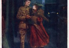 Wartime postcard: romance in the blackout