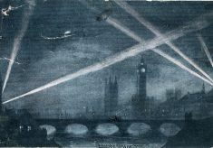 Wartime postcard: London in the blackout