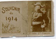 Contents of the souvenir matchbox: photographs of leaders from the First World War