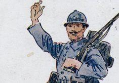 Wartime postcard: a French infantryman