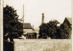 A view towards Queen Street Mill chimney