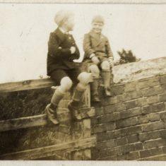 Vic and Frank, at the bridge on Devon Lane.   Janet Dammes