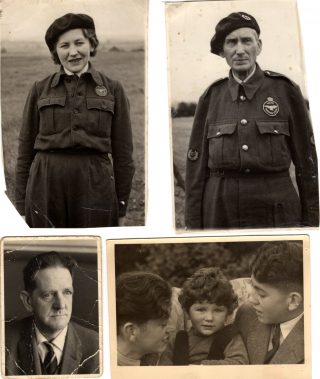 The Doncaster Family - Mrs Edith Doncaster (mum), Mr Charles Green (grandad), Mr Alec Doncaster (dad) and children (Tim, Mick and Tony) | From the collection of Tim Doncaster