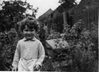Timothy Doncaster in the rear garden of Field View | From the collection of Tim Doncaster