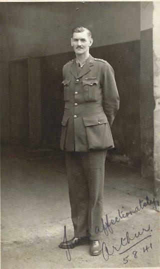 A.C.Wright, a prisoner at Oflag VIIc (1941) | Copyright Dr Rebecca Matthews